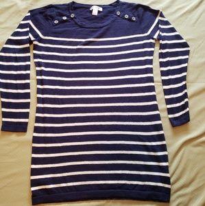 Motherhood Maternity Blue & White Light Sweater